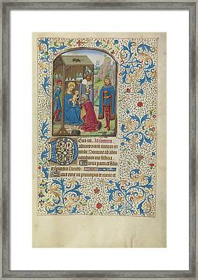 The Adoration Of The Magi Willem Vrelant, Flemish, Died 1481 Framed Print