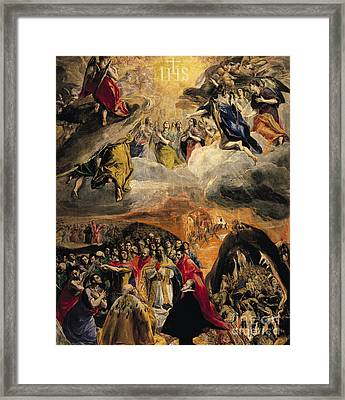 The Adoration Of The Name Of Jesus Framed Print by El Greco Domenico Theotocopuli
