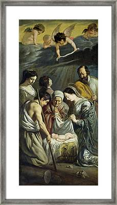 The Adoration Of The Shepherds Framed Print by Antoine and Louis Le Nain
