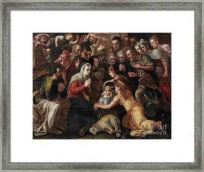 The Adoration Of The Shepherds Framed Print by Celestial Images