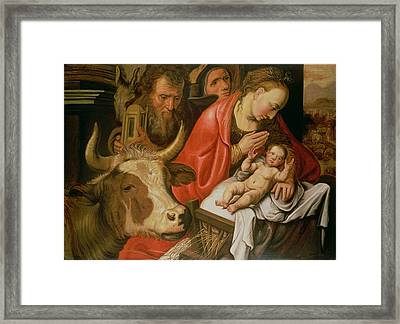 The Adoration Of The Shepherds Framed Print by Pieter Aertsen