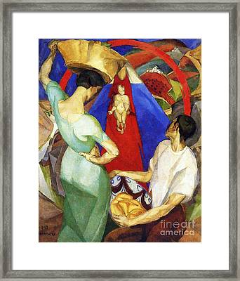 The Adoration Of The Virgin Framed Print by Pg Reproductions