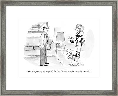 The Ads Just Say 'everybody In Leather' - Framed Print by Victoria Roberts