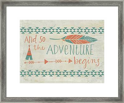 The Adventure Begins Framed Print by Katie Doucette