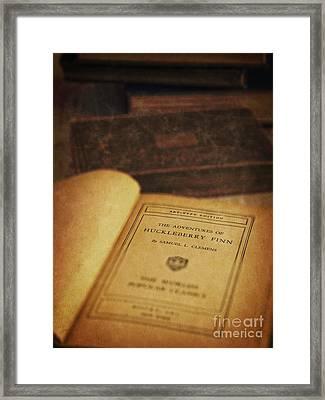 The Adventures Of Huckleberry Finn Framed Print by Edward Fielding