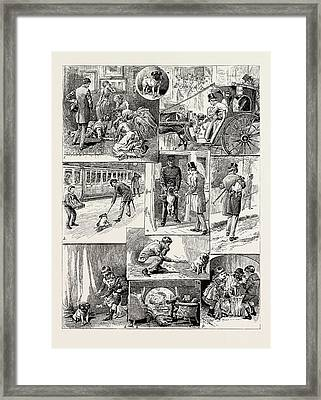 The Adventures Of The Dog Jim, 1889 1. Being Promised A Pet Framed Print