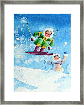 The Aerial Skier - 10 Framed Print