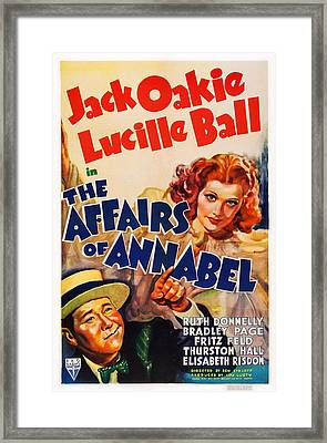 The Affairs Of Annabel, Us Poster Framed Print by Everett
