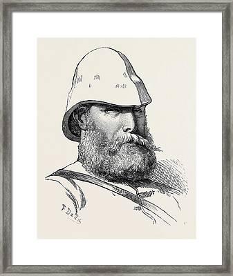 The Afghan War Major J.j Framed Print by English School