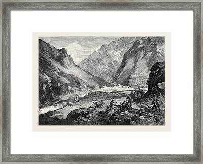 The Afghan War Pass Of Ali Musjid In The Khyber Framed Print