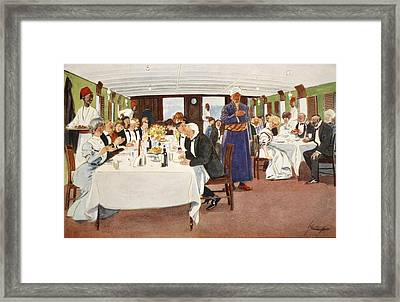 The After-dinner Speech, From The Light Framed Print by Lance Thackeray