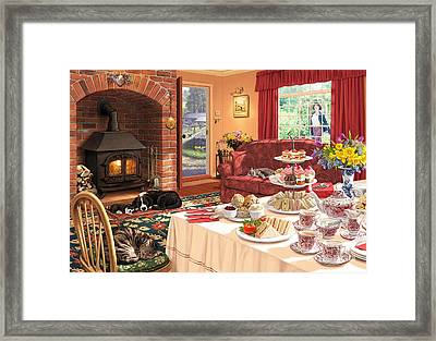 The Afternoon Visitor Framed Print by Steve Read