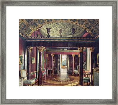 The Agate Room In The Catherine Palace At Tsarskoye Selo, 1859  Wc & White Colour On Paper Framed Print