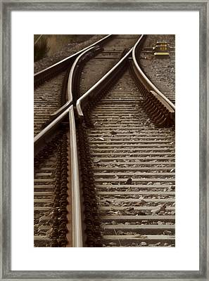 The Age Of Rail Framed Print by Odd Jeppesen