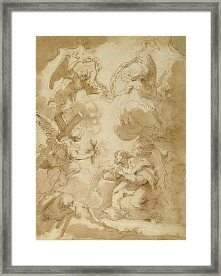 The Agony In The Garden Circle Of Pietro Novelli Framed Print by Litz Collection