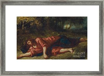 The Agony In The Garden Framed Print by Ferdinand Victor Eugene Delacroix
