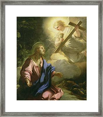 The Agony In The Garden Framed Print by Luca Giordano