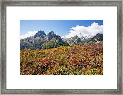 The Aiguille Rouge Range Framed Print