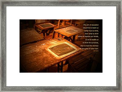 The Aim Of Education Framed Print by Bob Pardue