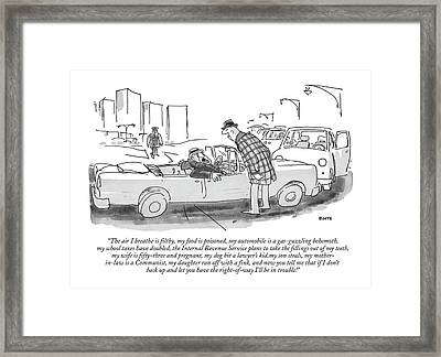 The Air I Breathe Is Filthy Framed Print