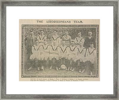 The Airdrieonians Team Framed Print by British Library