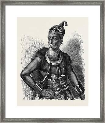 The Akali Of The Sikhs Framed Print