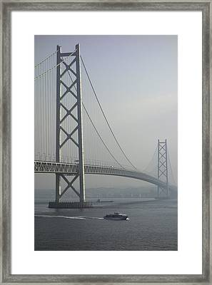 The Akashi Kaikyo Bridge Framed Print