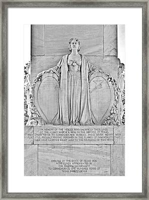 The Alamo Cenotaph San Antonio Tx Framed Print