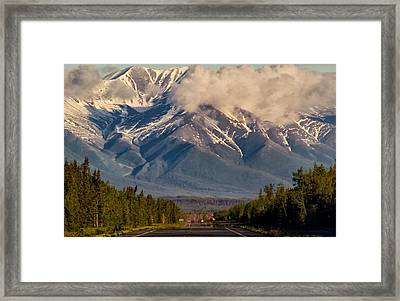 The Alaska Highway Tok Junction Alaska Framed Print