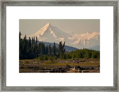 The Alaska Range At Mount Hayes Framed Print by Michael Rogers