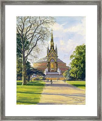 The Albert Memorial Oil On Canvas Framed Print