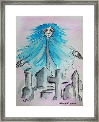 The Albino Woman Of Topeka Framed Print