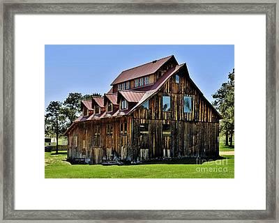 The Aldefer Barn Framed Print by Leianne Wilson