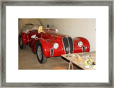 The Alfa Romeo Garage 5d25291 Framed Print by Wingsdomain Art and Photography