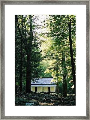 The Alfred Reagan Cabin Gatlinburg Framed Print by John Saunders
