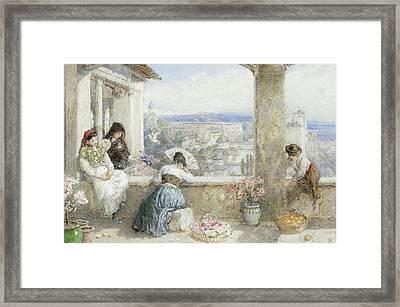 The Alhambra Granada Spain Framed Print