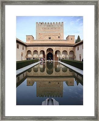 The Alhambra Palace Reflecting Pool 2 Framed Print by David  Ortiz