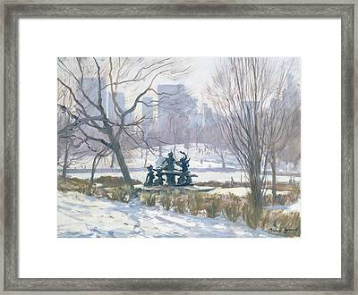 The Alice In Wonderland Statue, Central Park, New York Framed Print by Julian Barrow