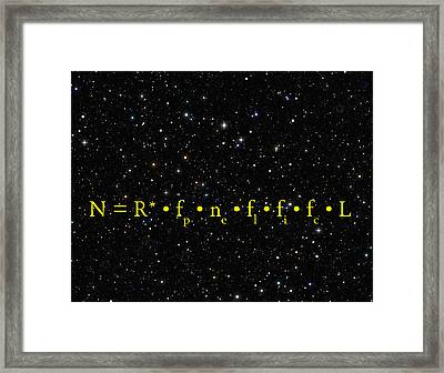 The Alien Equation - Scientific Estimate Of Techno Alien Civilizations Framed Print by Daniel Hagerman