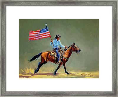 The All American Cowboy Framed Print by Randy Follis