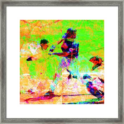 The All American Pastime 20140501 Square Framed Print by Wingsdomain Art and Photography