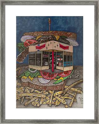 The All Star Sandwich Bar Framed Print by Richie Montgomery
