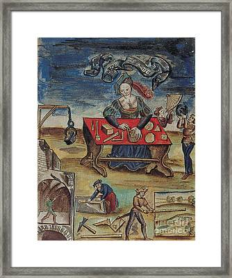 The Allegory Of Geometry, 16th Century Framed Print by Science Source