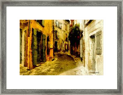 The Alley Framed Print by Wayne Pascall