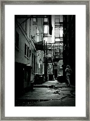 The Alleyway Framed Print by Michelle Calkins
