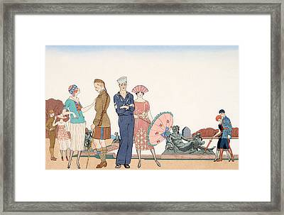 The Allies At Versailles Framed Print by Georges Barbier