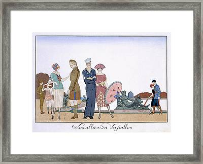 The Allies In Versailles Framed Print