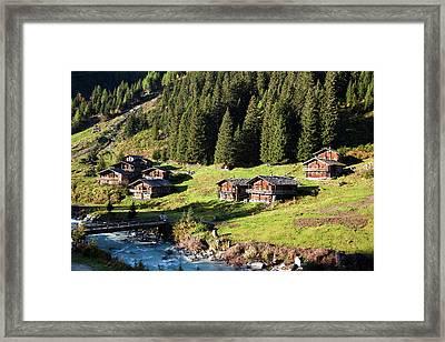The Alp Schild Alm In East Tyrol Framed Print by Martin Zwick