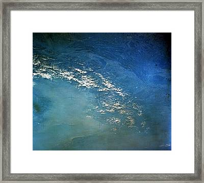 The Alps From Space Framed Print by Anonymous