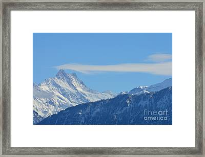 The Alps In Azure Framed Print